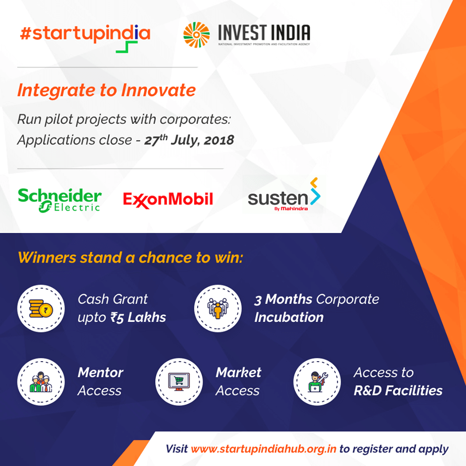 StartUp India Integrate to innovate 2018